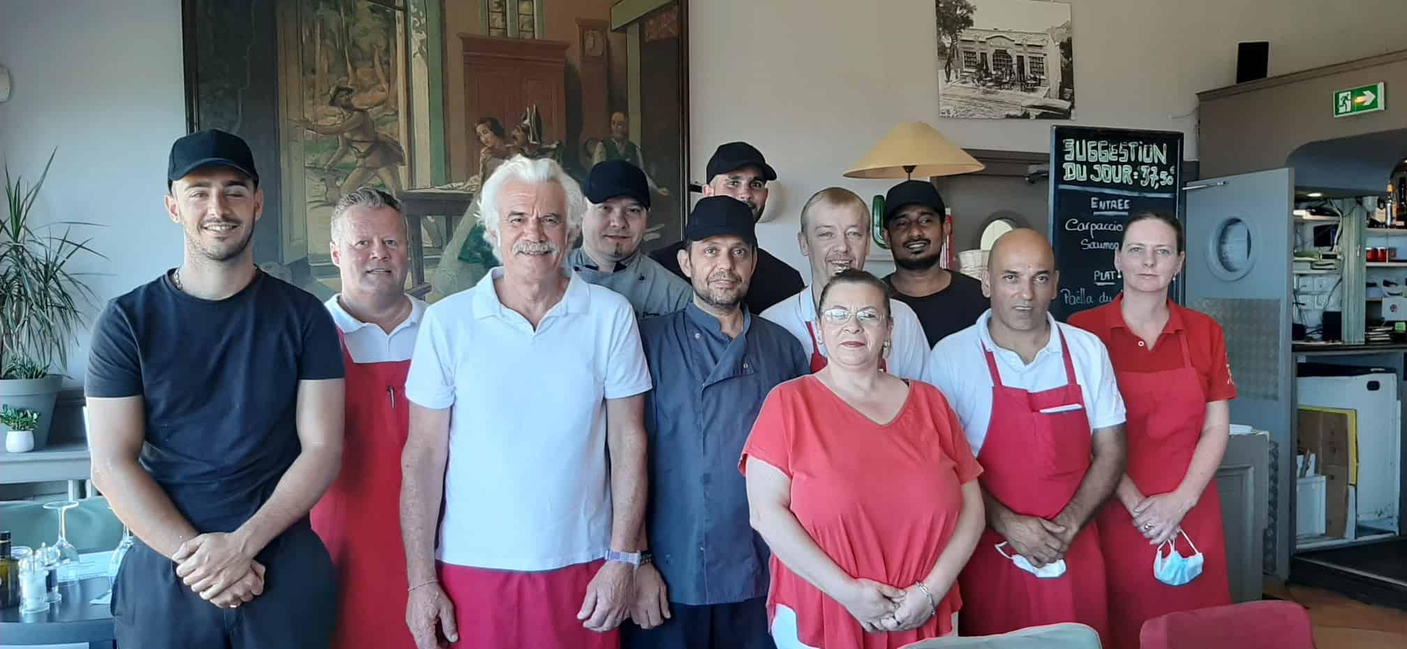 l'équipe 2020 du restaurant